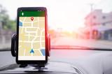 Mobile smart phone GPS navigator selective focus shallow depth o