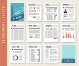 Document Report Layout Templates Mockup Set