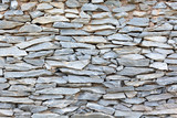 Close up of traditional homemade stone wall