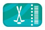 hockey ticket icon