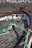 dettaglio vecchia barca da pesca