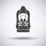 Baby car seat icon