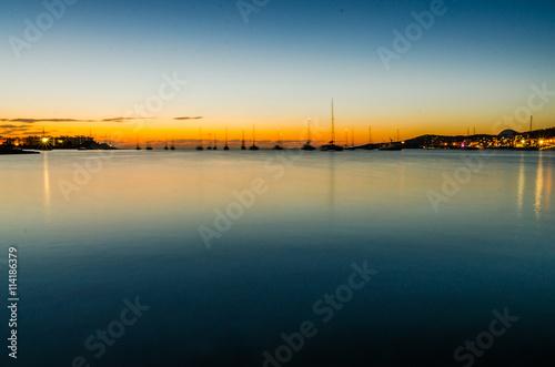 Ibiza, Espagne, Baléares, coucher de soleil