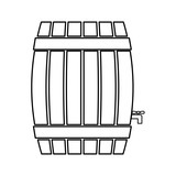 Barrel icon. Beer beverage. vector graphic