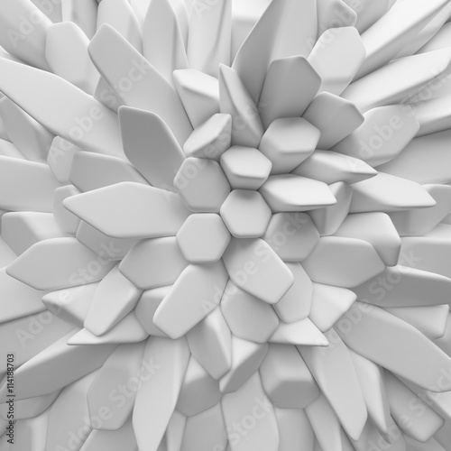 Fototapety, obrazy : White abstract hexagons backdrop. 3d rendering geometric polygons