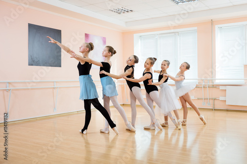 Young dancers at ballet class  © Andrey Bandurenko