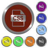 Color CSS file format buttons