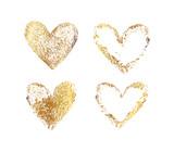 Fototapety Gold heart frame