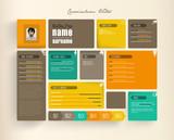 Creative resume template with tiles.