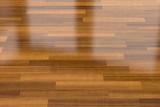 Dark wood parquet floor, background - 114224102