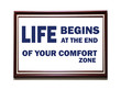 Inspirational Motivational Life Quote on wooden frame