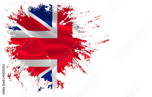 Poster Part of The flag of Great Britain  on the white background