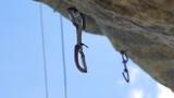 Mountaineering Equipment On Rock