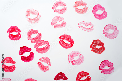 Lèvres de fond au blanc Poster