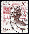 Постер, плакат: Postage stamp Germany 1968 Maxim Gorky Russian Writer