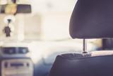 Kopfstützen in Auto, retro