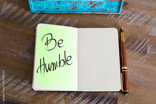 Handwritten Text Be Humble Poster