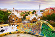View of Park Guell in Barcelona. Catalonia