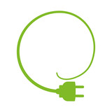 Save Energy concept represented by plug icon. isolated and flat illustration