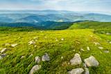 boulders on the hillside