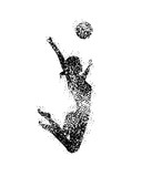 Woman Volleyball Silhouettes