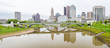 Beautifu view of Columbus Ohios with fancy bridge