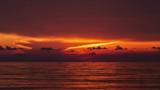 Time lapse Sunset over sea