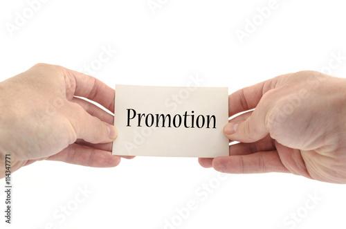 Promotion text concept