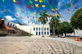 Praça no centro histórico de São Luís no Maranhão.