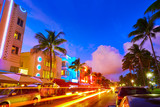 Miami South Beach sunset Ocean Drive Florida - 114380532