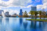 Orlando skyline fom lake Eola Florida US - 114381513