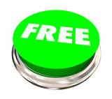 Free Bonus Complimentary Gift Round Button 3d Illustration