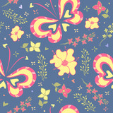 decorative butterfly, floral pattern, floral background, butterfly background