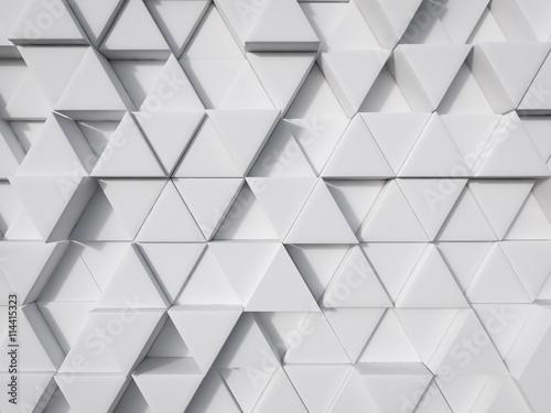 fototapeta na ścianę abstract white modern technology background 3d rendering
