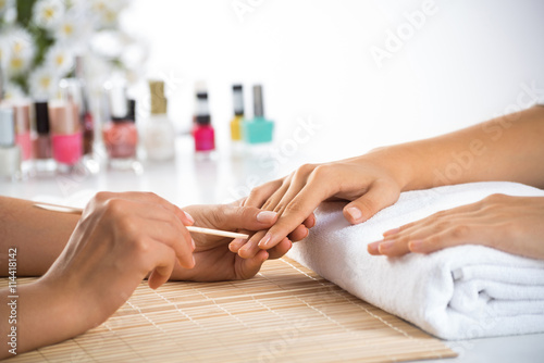Fotobehang Manicure Manicure procedure