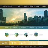 Website Design Template for Your Business with Melbourne Skyline Background