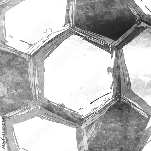 Football soccer ball abstract background easy editable - 114423707