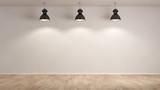 Drei Lampen hängen im Raum - 114429313