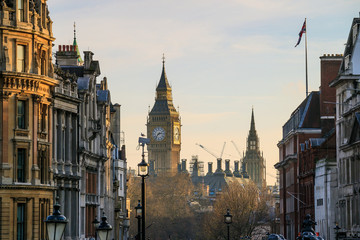 London skyline with Big Ben and Houses of parliament