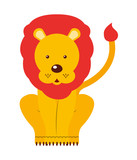 circus lion  isolated icon design