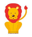circus lion  isolated icon design