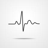 Heartbeat icon - vector illustration.