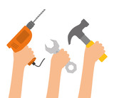 Tools digital design, vector illustration eps 10.