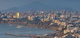 Panoramic view of Lima city at the afternoon.