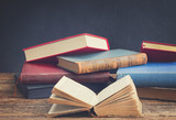 Fototapety Bookshelf with books