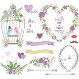 Wedding Floral, love Bird,Laurels,Wedding invitation collections