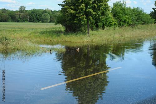 Leinwandbild Motiv Hochwasser 21