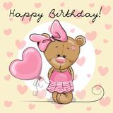 Cute Cartoon Teddy Bear Girl