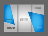Vector modern tri-fold brochure design template