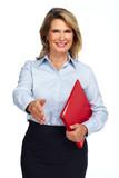 Senior business woman handshake.